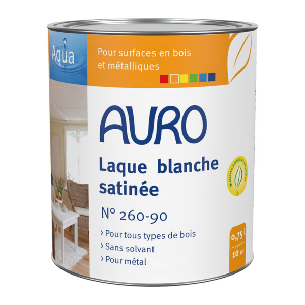 Laque couvrante satinée blanche Auro